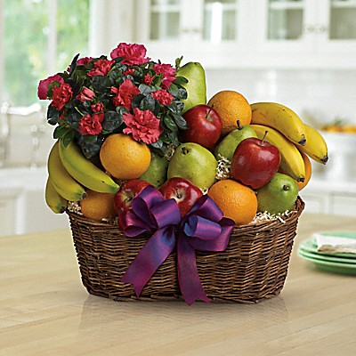 Grand panier gastronomique de fruits