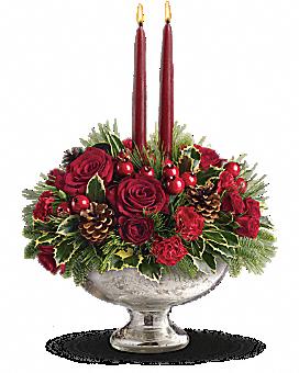 Teleflora's Mercury Glass Bowl Bouquet Bouquet
