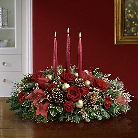 All is Bright holiday centerpiece