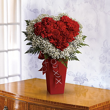 Buy our Heart and Soul - heart-shaped carnation bouquet $44.95