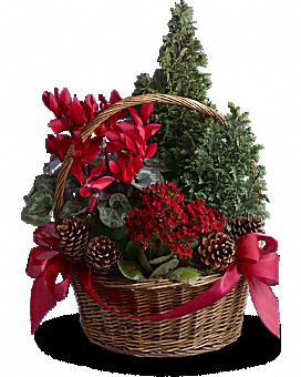 Tannenbaum Basket Bouquet