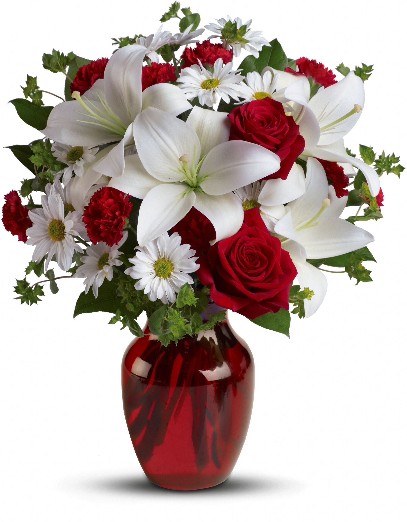 Be My Love Bouquet with red roses and lilies