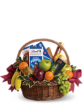 Fruits and Sweets Christmas Basket Gift Basket