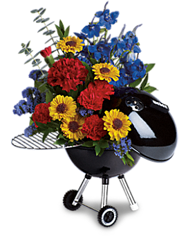 Weber® Hot Off The Grill by Teleflora Flower Arrangement