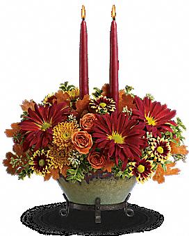 Teleflora's Tuscan Autumn Centerpiece Bouquet