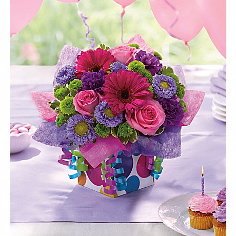Teleflora's Confetti Present mixed flower bouquet