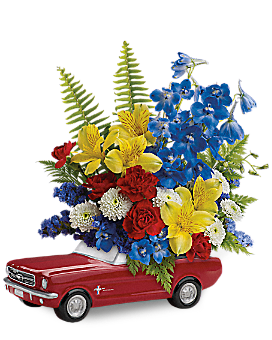 Teleflora's '65 Ford Mustang Bouquet Bouquet
