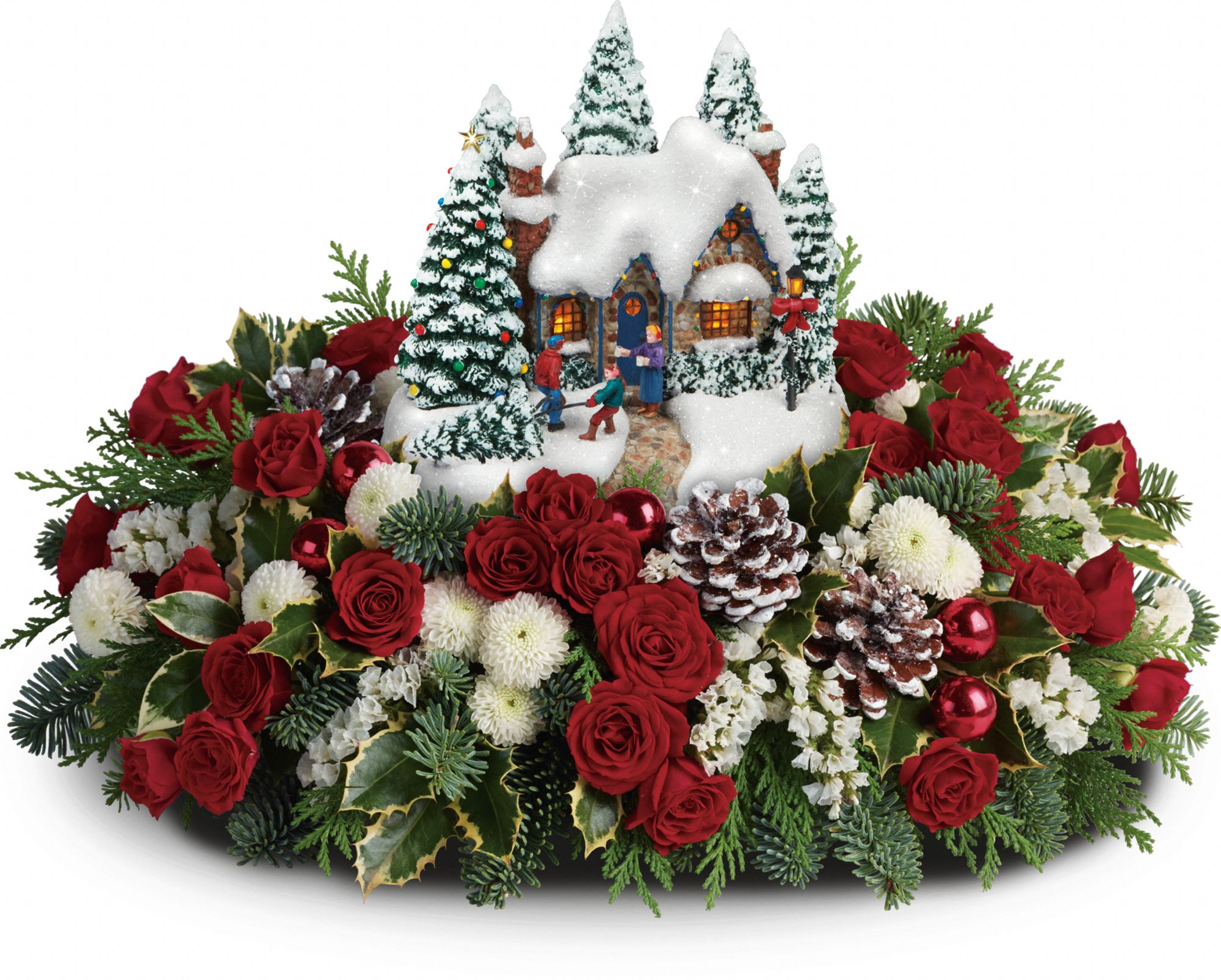 Thomas Kinkade's Country Christmas Homecoming Bouquet by Teleflora