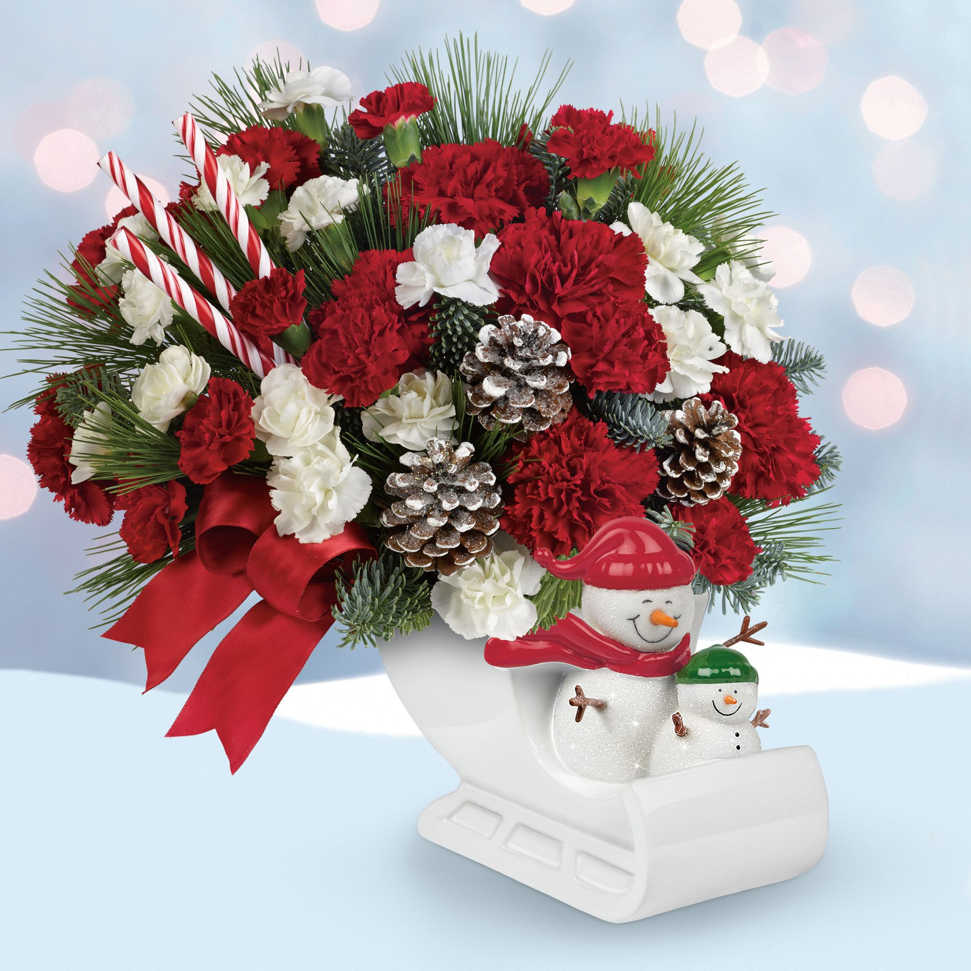 Send a Hug® Open Sleigh Ride bouquet by Teleflora