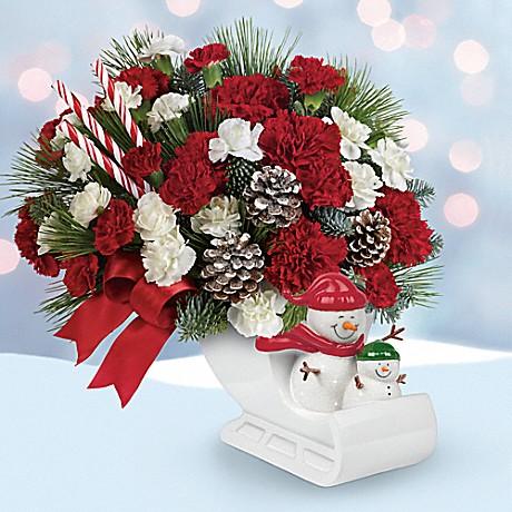 Send a Hug® Open Sleigh Ride bouquet by Teleflora