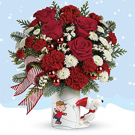PEANUTS® Christmas Mug by Teleflora