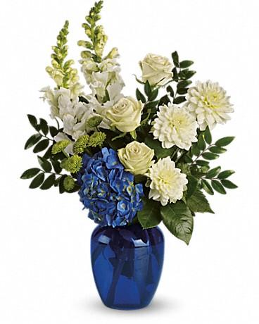 Ocean Devotion blue and white bouquet