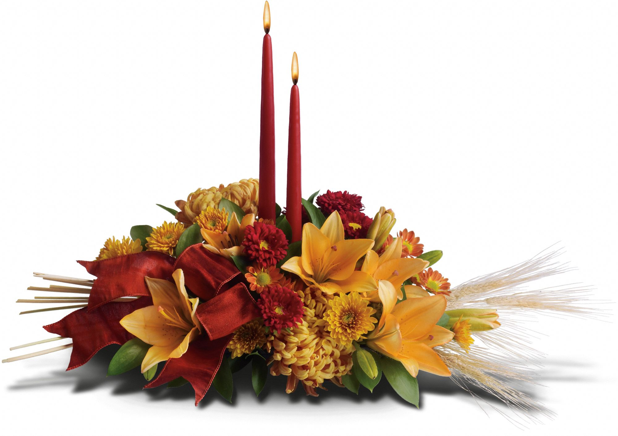 Graceful Glow Fall Centerpiece with candles