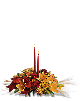 Graceful Glow Centerpiece Flower Arrangement