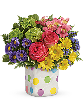 Teleflora's Happy Dots Bouquet Bouquet