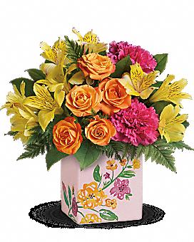 Teleflora's Painted Blossoms Bouquet Bouquet