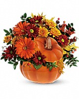 Teleflora's Country Pumpkin Flower Arrangement