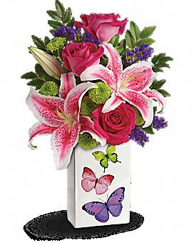 Teleflora's Brilliant Butterflies Bouquet Bouquet