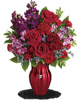 Teleflora's Shining Heart Bouquet Bouquet