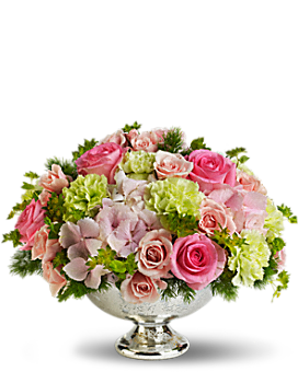Teleflora's Garden Rhapsody Centerpiece Flower Arrangement