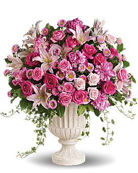 Passionate Pink Garden Arrangement Flower Arrangement