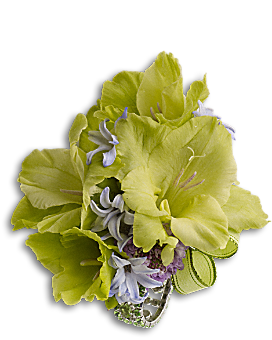 Soft Green Glamour Wristlet Corsage