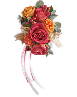 Sunset Beauty Wristlet Corsage