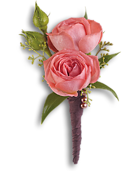 Rose Simplicity Boutonniere Boutonniere