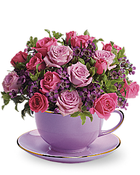Teleflora's Cup of Roses Bouquet Flower Arrangement