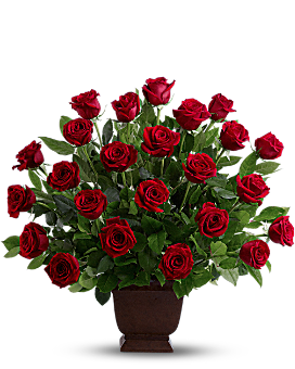 Teleflora's Rose Tribute Flower Arrangement