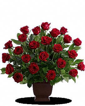 Teleflora's Rose Tribute Flower Arrangement