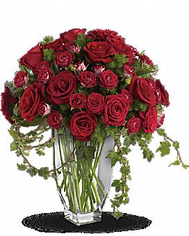 Teleflora's Rose Romanesque Bouquet - Red Roses Bouquet
