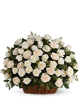 Bountiful Rose Basket Basket Arrangement