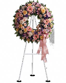 Graceful Wreath Sympathy Arrangement