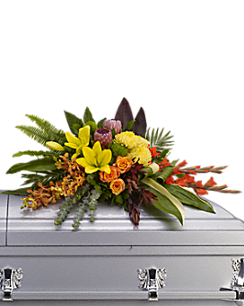 Island Memories Casket Spray Sympathy Arrangement