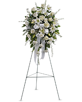 Sentiments of Serenity Spray Sympathy Arrangement