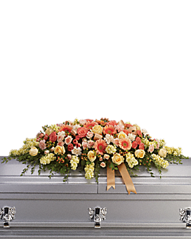 Warmest Remembrance Casket Spray Sympathy Arrangement