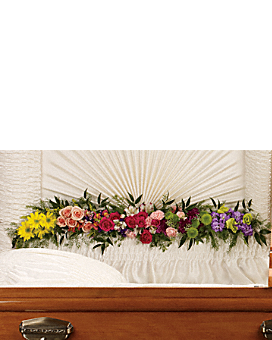 Glorious Memories Garland Sympathy Arrangement
