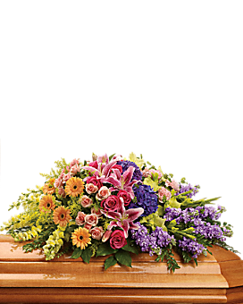 Garden of Sweet Memories Casket Spray Sympathy Arrangement