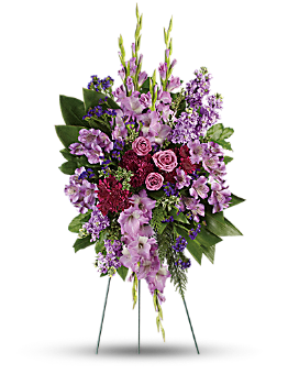 Lavender Reflections Spray Sympathy Arrangement