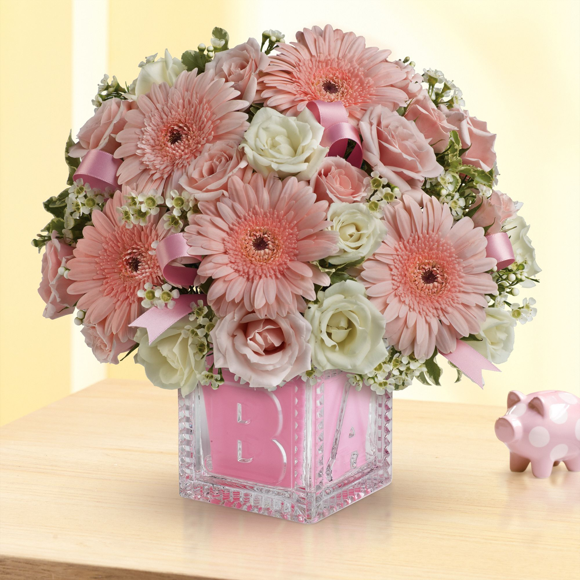 Baby's First Block Bouquet by Teleflora - Pink