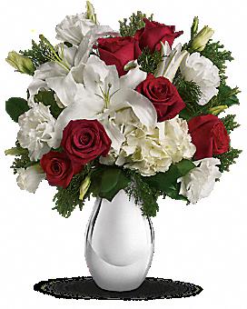 Teleflora's Silver Noel Bouquet Bouquet