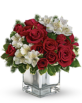 Teleflora's Christmas Blush Bouquet Flower Arrangement