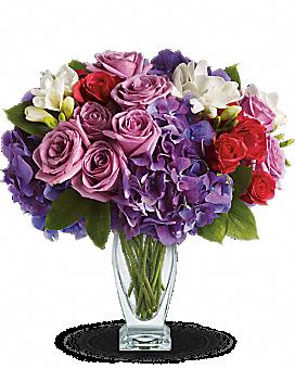 Teleflora's Rhapsody in Purple Bouquet