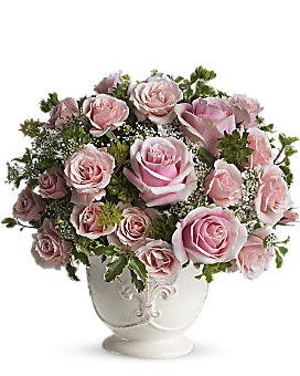 Teleflora's Parisian Pinks with Roses Flower Arrangement