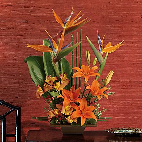 Teleflora S Exotic Grace Flower Arrangement Teleflora