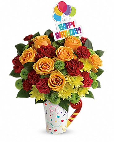 Teleflora's Fun 'n Festive Birthday Bouquet