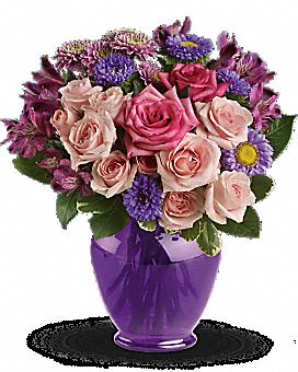 Teleflora's Purple Medley Bouquet with Roses Bouquet