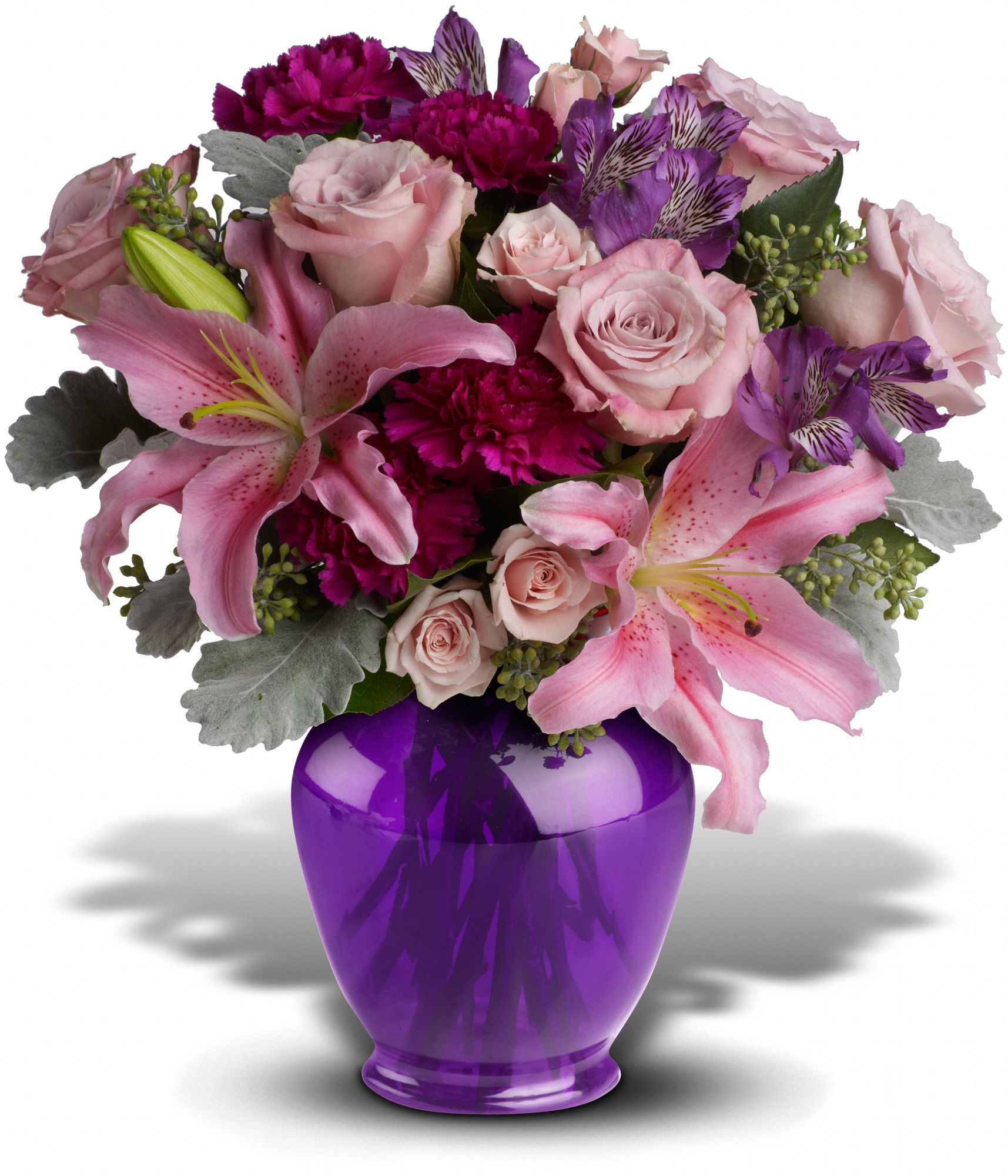 Teleflora's Elegant Beauty MIxed Floral Bouquet