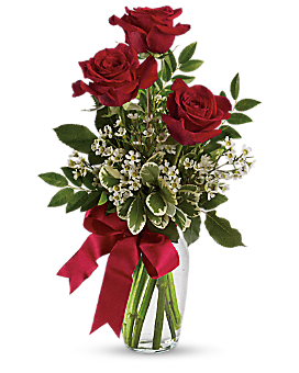 Thoughts of You Bouquet with Red Roses Bouquet